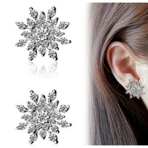 Christmas Crystal Snowflake Earrings